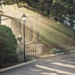 Stock Photo: Sunbeam from arch