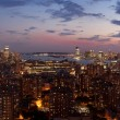 New York City Skyline at sunset — Stock Photo