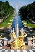 Fountains at the Petergof — Stock Photo