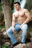 Attractive muscular man — Stock Photo