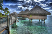 Tahiti Huts — Stock Photo