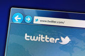 Site do twitter — Foto Stock