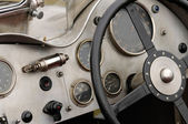 Detail of a vintage racing car — Stock Photo