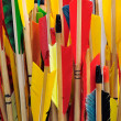 Arrow fletchings in different colors. — Stock Photo #9491145