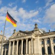 Front view of the Reichstag, Berlin, Germany - Stock Photo