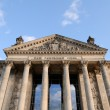 Front view of the Reichstag, Berlin, Germany — Stock Photo