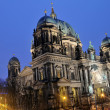 Stock Photo: The German Cathedral on Gendarmenmarkt at Night