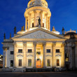 The German Cathedral on Gendarmenmarkt at Night - Stock Photo