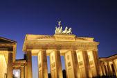 Portão de brandemburgo, em berlim — Foto Stock