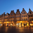 Night shot of Prinzipalmarkt square at Muenster — Stock Photo #9660901