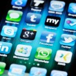 Social MediApps on Apple iPhone 4 — Stock Photo #9661550