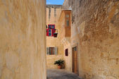 Narrow Street in Mdina — Stock Photo