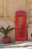 Červené telefonní kabina — Stock fotografie