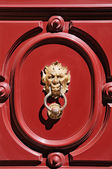 Gargoyle head door knocker — Stock Photo