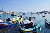 Maltese fishing boats — Stock Photo