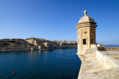 Gardjola lookout overlooking Valletta — Stock Photo