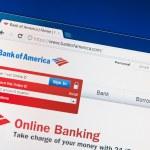 Bank of America website — Stock Photo