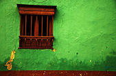 Green Colonial Wall — Stock Photo