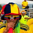 Colombian Fans before a Soccer Game — Stock Photo