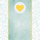 Valentinskarte mit Herz. Eps 8 — Stockvektor