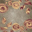 Floral backgrounds with vintage roses. EPS 8 — Image vectorielle