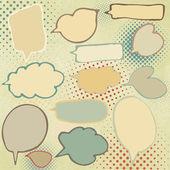 Discurso vintage bubbles juego. eps 8 — Vector de stock