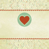 Beautiful greeting vintage Valentine`s card. EPS 8 — Stock vektor