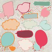 Vintage speech bubbles set. EPS 8 — Stock Vector