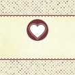 Royalty-Free Stock Векторное изображение: Valentine card with heart.