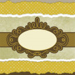 Royalty-Free Stock Imagen vectorial: Vintage card template with copy space. EPS 8