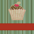 Royalty-Free Stock Vector Image: Retro card with cupcake. EPS 8