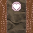 Stock vektor: Brown and pink valentine vintage card. EPS 8