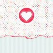 Royalty-Free Stock Vektorgrafik: Valentine\'s card with copy space. EPS 8