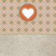Retro valentine&#039;s day card with heart. EPS 8 - Imagen vectorial