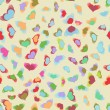 Vector de stock : Flying hearts seamless pattern. EPS 8