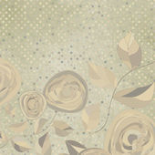 Romantic floral with vintage roses. EPS 8 — Vector de stock