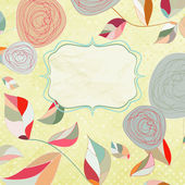 Floral backgrounds with vintage roses. EPS 8 — Stock Vector