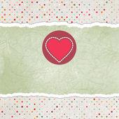 Valentine karty z serca. Eps 8 — Wektor stockowy