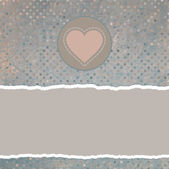 Valentine card with heart. EPS 8 — Vettoriale Stock