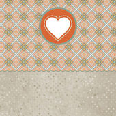 Retro valentine's day card with heart. EPS 8 — Stockvektor