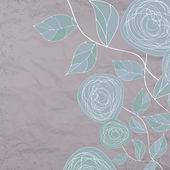 Romantisk blommig med vintage rosor. EPS 8 — Stockvektor