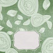 Floral backgrounds with vintage roses. EPS 8 — Vettoriale Stock