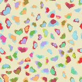 Flying hearts seamless pattern. EPS 8 — Vector de stock
