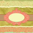 Vintage card template with copy space. EPS 8 - Stock Vector