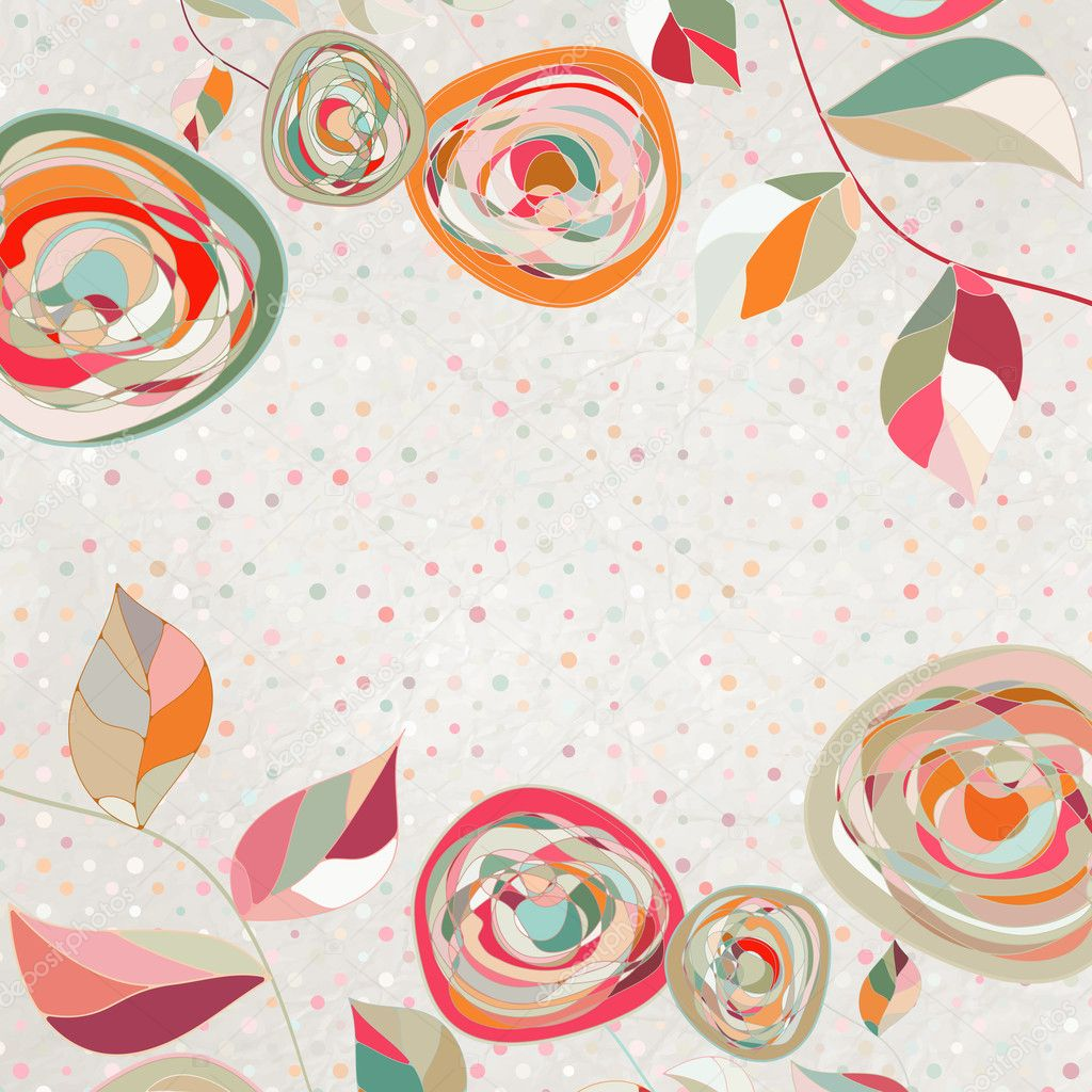 Floral backgrounds with vintage roses. And also includes EPS 8 vector  Stock Vector #9680842