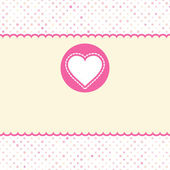Valentine card with heart. EPS 8 — Stock Vector