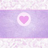 Alla hjärtans-kort med hjärta. och även innehåller eps 8 — Stockvektor