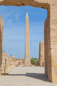 Obelisco de la reina hatshepsut en templo de karnak — Foto de Stock