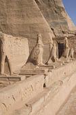 Sculptures in Abu Simbel Temple (Egypt) — Stockfoto