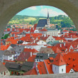 Historic town Cesky Krumlov (Czech republic). - Foto Stock